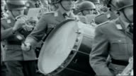 New West German Army Bavaria Wurzburg EXT Military band of 12th Division of the new German Army marching on parade ground