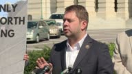 Representative Ruben Gallegos a democrat from Arizona's 7th Congressional District is the lead organizer of a press conference expressing opposition...