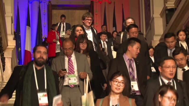 Representatives of 1000 cities from all over the world meet at Paris City Hall for an international mayors summit on the sidelines of the COP21 on...