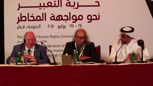 Representatives of international regional and national organisations of journalists meeting at conference on media freedom in Doha condemned Tuesday...