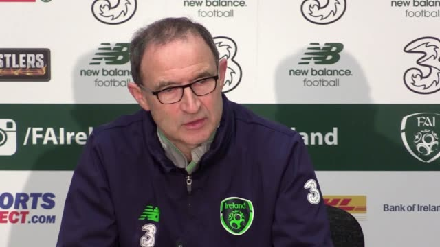 Republic of Ireland manager Martin O'Neill and midfielder David Meyler give a press conference ahead of the team's World Cup qualifier against Denmark