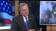 WHO Republican Presidential Candidate Jeb Bush Talks About Gun Control during at interview in Des Moines Iowa on October 11 2015