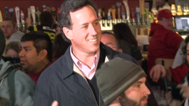 Republican presidential hopeful Rick Santorum surging in Iowa thanks to the state's social conservatives declared Friday a top two finish in next...