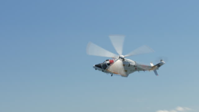 Rescue helicopter passing by