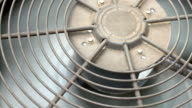 Residential Air Conditioner Compressor Fan Close Up