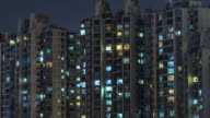 T/L CU HA ZI Residential Area at Night / Beijing, China