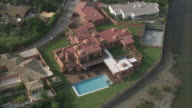 WS POV AERIAL Resorts along coast towards Marbella / Estepona, Andalusia, Spain