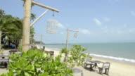 Restaurant at sandy beach