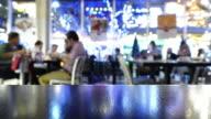 restaurant dinner time lapse