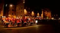 Restaurant in the old town of Florence at night,with unidentified people.