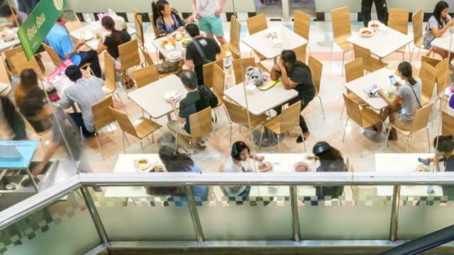 Restaurant im Einkaufszentrum, Zeitraffer