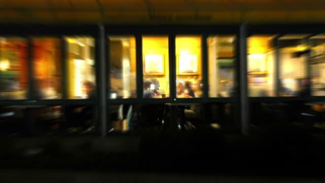 Restaurant Nachtleben Zeitraffer Loop