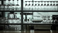 Restaurant scene with shallow depth of field, Amsterdam