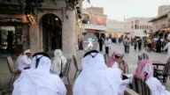 MS PAN Restored Souq Waqif with mud rendered shops and exposed timber beams / DOHA, QATAR