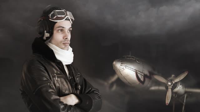 Retro Aircraft pilot