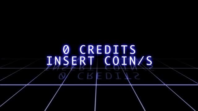 Retro Arcade Game Screen