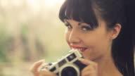 Retro girl & camera        LI CO