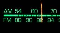 Retro radio tuner dial