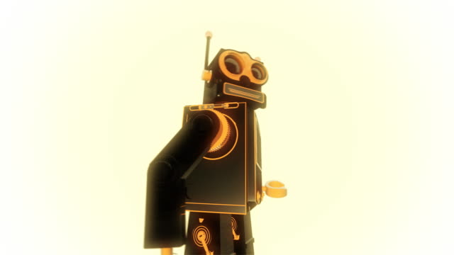 retro robot animation
