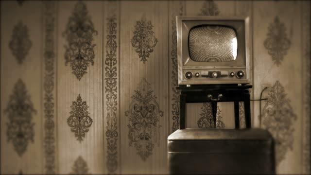 TV retrò con statica HD