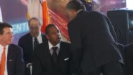 Reverend Al Sharpton and JayZ at the Barclays Center At Atlantic Yards Groundbreaking Ceremony at New York NY