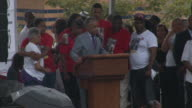 Reverend Al Sharpton concludes his speech at the 'We Will Not Go Back March For Justice' rally to protest the death of Eric Garner at police hands /...