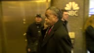 Reverend Al Sharpton enters the NBC Building 02/27/12 in Celebrity Sightings in New York