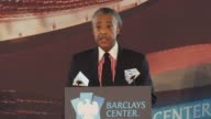 Reverend Al Sharpton jokes that JayZ promised he'd sit next to Beyonce on supporting this project and change in Brooklyn the jobs and inclusion that...