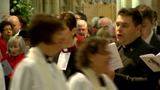Reverend Libby Lane consecrated as Church of England's first female bishop ENGLAND York York Minster INT **Music heard intermittently SOT** General...