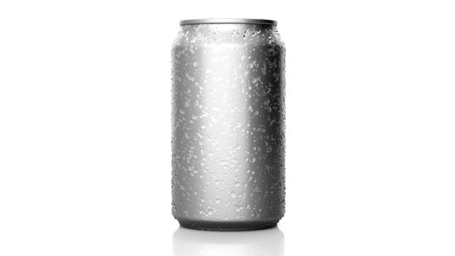 Revolving beverage can with condensation