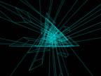 Revolving Blue Geometric Shapes