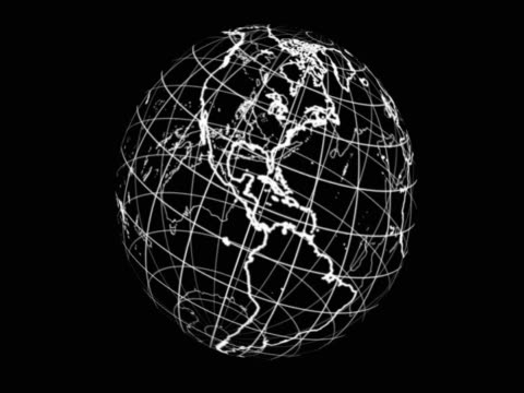 Revolving diagrammatic globe