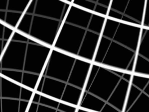Revolving diagrammatic grid. Globe effect. Close-up