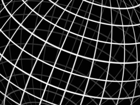 Revolving diagrammatic grid. Globe effect