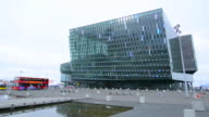 Reykjavik Iceland downtown Harbor new Opera House called the Harpa Concert Hall opened in 2011