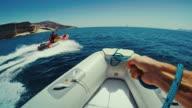 POV Rhib sailing in summer vacations