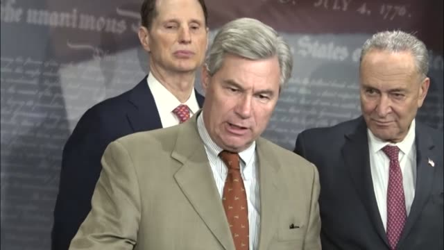 Rhode Island Senator Sheldon Whitehouse says that it press briefing with Senate Democrats to critique retirement savings plans and tax reform to be...