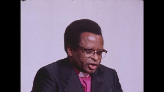 London MS Muzorewa at press conference MUZOREWA SOF The Ayatollah's have done enoughpeople' MS Mugabe and Brunson CS MUGABE SOF 'Yes this is whatthat...