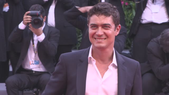 Riccardo Scamarcio at 'Suburbicon' Red Carpet 74th Venice International Film Festival at Palazzo del Cinema on September 02 2017 in Venice Italy