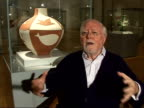Richard Attenborough interview / Views of Picasso ceramics collection as guided by Attenborough Collected Picasso's pottery for 20 years / Picasso...