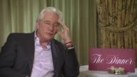 Richard Gere on his changing character his characters relationships with women at Berlin Film Festival 'The Dinner' Interviews at Berlinale Palast on...