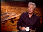 Richard Gere on says he doesn't know why people still care about Amelia Earhart's story maybe because she died at the 'Amelia' Press Junket at New...