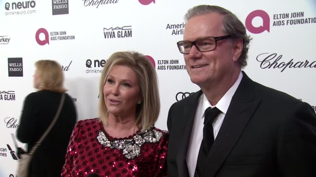 INTERVIEW Richard Hilton and Kathy Hilton at the 23rd Annual Elton John AIDS Foundation Academy Awards Viewing Party Sponsored By Chopard Neuro...