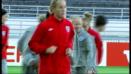 Richard Keys and Andy Gray suspended from Sky Sports over sexist remarks R09090906 Helsinki Various views of England women's football team training...