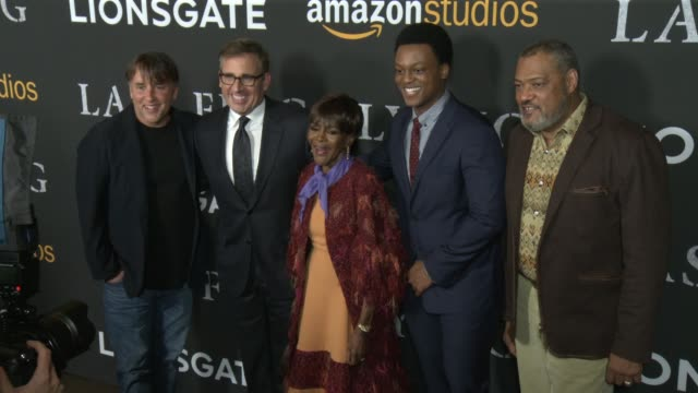 Richard Linklater Steve Carell Cicely Tyson J Quinton Johnson Laurence Fishburne at Amazon Studios and Lionsgate Present The Los Angeles Premiere of...