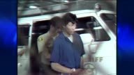KTLA Richard Ramirez Coming Out Of Police Car on June 08 1984 in Los Angeles California