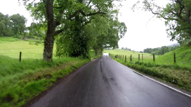 Ride through scottish landscape, fast forward