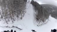 Riding a ski lfit