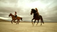(Slow Motion) Riding Horses in the Dessert 07