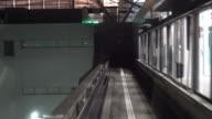 Monorail in Osaka Japan rijden